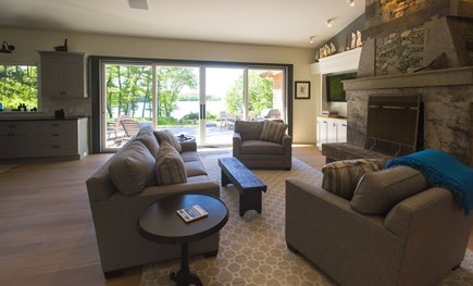 West Tisbury Martha's Vineyard vacation rental - Living area opens out to deck and views