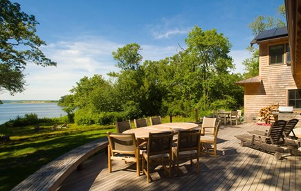 West Tisbury Martha's Vineyard vacation rental - Outdoor back deck for relaxing