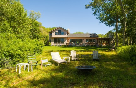 West Tisbury Martha's Vineyard vacation rental - Spacious back yard for family gatherings