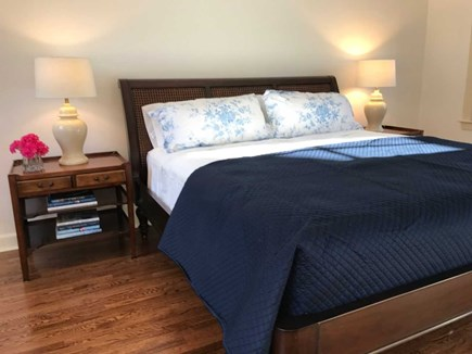 Vineyard Haven Martha's Vineyard vacation rental - Downstairs Master bedroom with king bed & new private bathroom