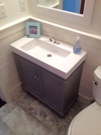 Oak Bluffs Martha's Vineyard vacation rental - Marble vanity in bathroom.