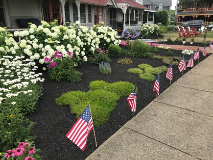 Oak Bluffs Martha's Vineyard vacation rental - Landscaped beds in front of condo building.
