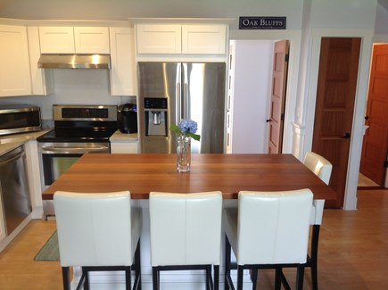Oak Bluffs Martha's Vineyard vacation rental - Kitchen with all full size stainless steel appliances.