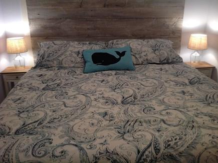 Oak Bluffs Martha's Vineyard vacation rental - Bedroom/king bed....custom headboard from reclaimed lumber.