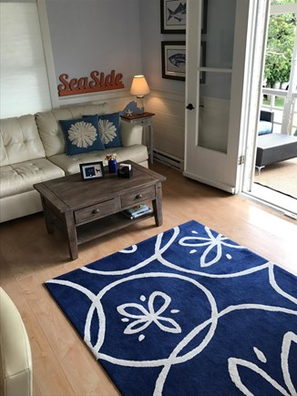 Oak Bluffs Martha's Vineyard vacation rental - Other side of open family room with double doors to front porch.