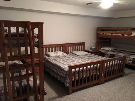 West Tisbury Martha's Vineyard vacation rental - Kids' bunk room with 6 twin beds, lower level