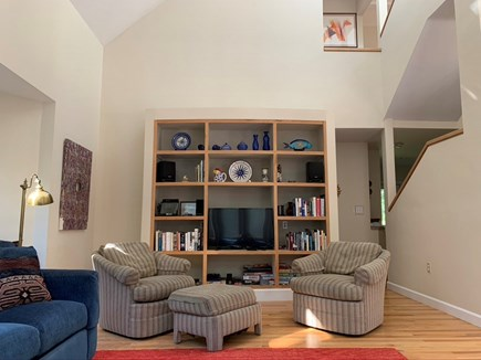 West Tisbury Martha's Vineyard vacation rental - Living room with two sofas, ample seating and flat screen TV.