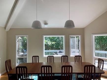 West Tisbury Martha's Vineyard vacation rental - Dining room table seats 12 easily, plus spacious breakfast bar.