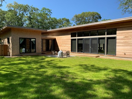 Oak Bluffs Martha's Vineyard vacation rental - Backyard with Stone patio