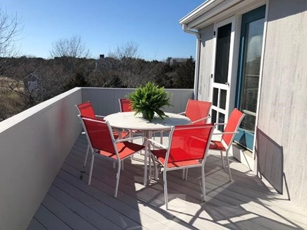 Edgartown Martha's Vineyard vacation rental - Dining on the deck with Katama Plain and the Atlantic Ocean