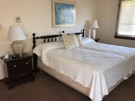 Edgartown Martha's Vineyard vacation rental - King size bed with attached bath downstairs