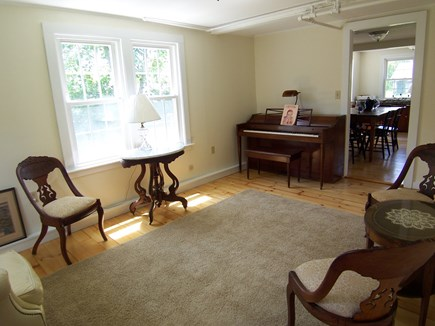 Edgartown Martha's Vineyard vacation rental - Sitting room with piano
