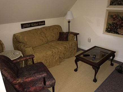 Oak Bluffs Martha's Vineyard vacation rental - 2nd floor Full Master-sized suite sitting area, TV on wall.