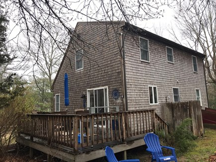 Oak Bluffs Martha's Vineyard vacation rental - Deck with ample seating, outdoor shower too.