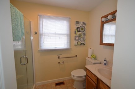 Oak Bluffs Martha's Vineyard vacation rental - First floor bath with walk-in shower and stackable washer/dryer.