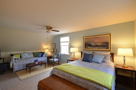 Oak Bluffs, Vineyard Haven Martha's Vineyard vacation rental - 2nd Fl Queen Master-size suite with lounge area and 4K  HD TV.