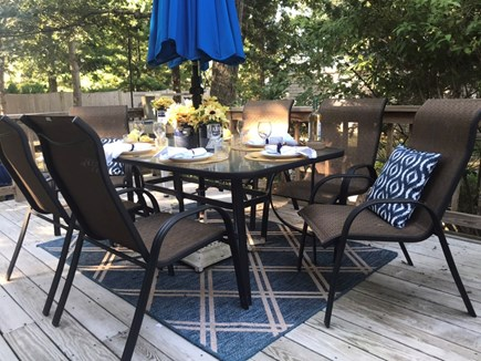 Oak Bluffs Martha's Vineyard vacation rental - Dine al fresco on the deck! Weber grill in backyard.
