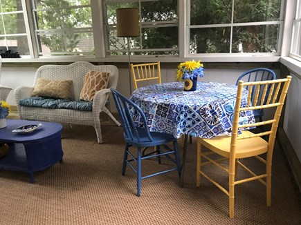 Oak Bluffs Martha's Vineyard vacation rental - Dining or games on the enclosed porch.