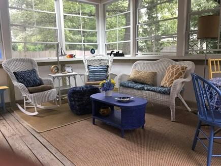 Oak Bluffs Martha's Vineyard vacation rental - Enjoy nature on enclosed three-season porch from wicker rockers.