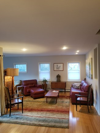 Vineyard Haven Martha's Vineyard vacation rental - Living room, looking from dining rm, sun rm to left