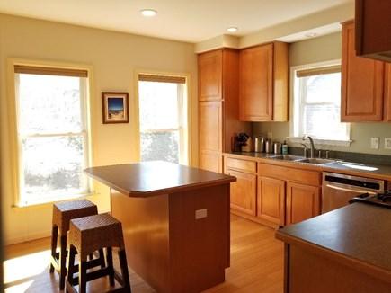 Vineyard Haven Martha's Vineyard vacation rental - Kitchen: gas rang to right, Fridge to left. great morning sun.