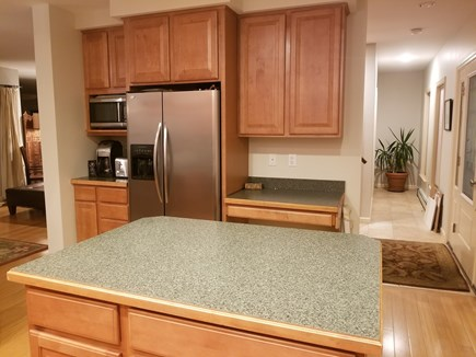 Vineyard Haven Martha's Vineyard vacation rental - Kitchen w fridge, microwave, coffe & toaster alcove. foyer/hall
