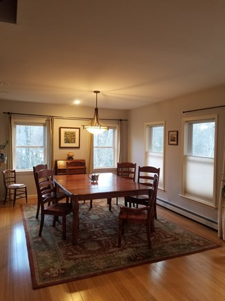 Vineyard Haven Martha's Vineyard vacation rental - Spacious dining rm, slider to deck on right, living rm adjacent.