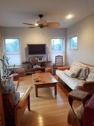 Vineyard Haven Martha's Vineyard vacation rental - Sun room, off from living room. plasma tv/dish, slider to deck.