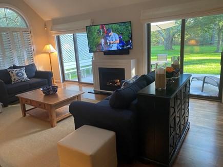Oak Bluffs Martha's Vineyard vacation rental - Great Room View to Deck & Backyard