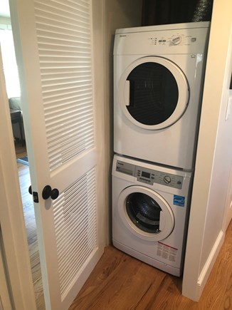 Oak Bluffs Martha's Vineyard vacation rental - Washer & Dryer stacked laundry units