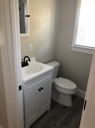 Oak Bluffs Martha's Vineyard vacation rental - Updated Bathroom with white subway tile and headboard vanity