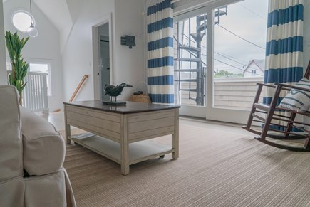 Oak Bluffs Martha's Vineyard vacation rental - Second floor living room view of private second floor deck.