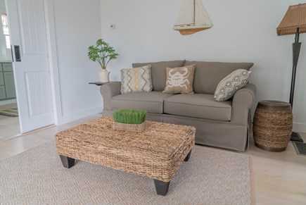Oak Bluffs Martha's Vineyard vacation rental - First floor living room with a full size sofa bed.