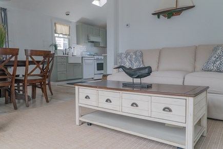 Oak Bluffs Martha's Vineyard vacation rental - Second floor dining area and living room with queen sofa bed.