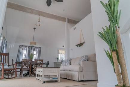Oak Bluffs Martha's Vineyard vacation rental - Second floor living room with cathedral ceilings.