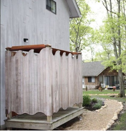 Vineyard Haven Martha's Vineyard vacation rental - Outdoor shower with changing area