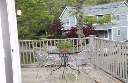 Vineyard Haven Martha's Vineyard vacation rental - Deck off the kitchen with additional seating