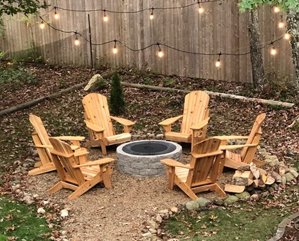 Vineyard Haven Martha's Vineyard vacation rental - New addition - firepit with 6 custom made Adirondack chairs