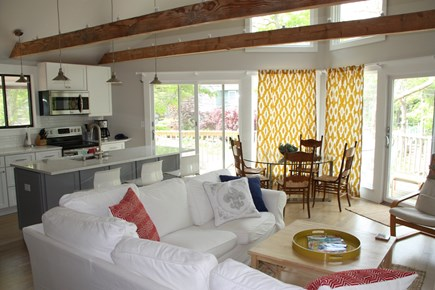 Vineyard Haven Martha's Vineyard vacation rental - Bright, open living room and kitchen