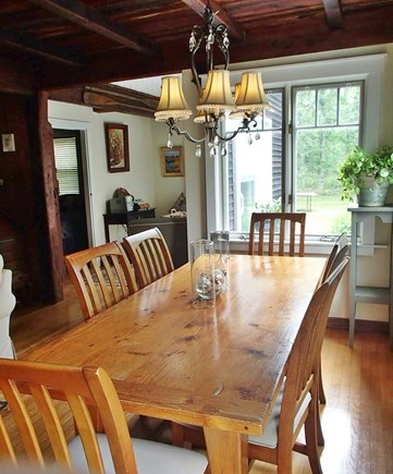 Edgartown Martha's Vineyard vacation rental - Dining table for a roomy six.