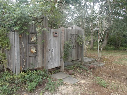 Edgartown Martha's Vineyard vacation rental - Everyone's favorite, the outdoor shower.