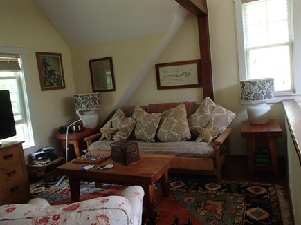 Edgartown Martha's Vineyard vacation rental - An upstairs den offers privacy and a futon for extra guests.