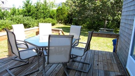 Katama - Edgartown, Edgartown Martha's Vineyard vacation rental - Dinner seating on the deck