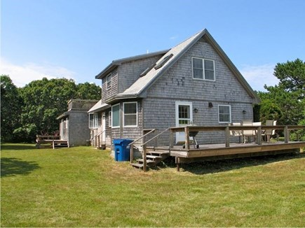 Katama - Edgartown, Edgartown Martha's Vineyard vacation rental - Sunny back deck overlooking the spacious yard.