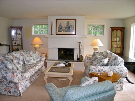 Katama - Edgartown, Edgartown Martha's Vineyard vacation rental - living room with fire place