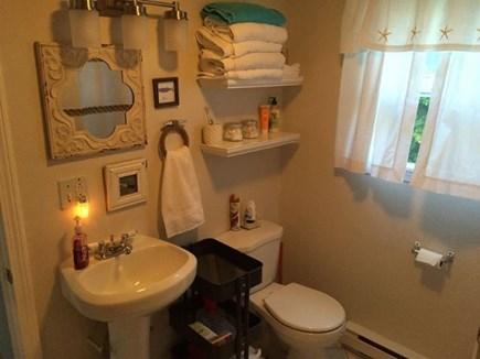 Edgartown Martha's Vineyard vacation rental - 1st floor bathroom with shower & washer/dryer