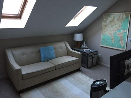 Edgartown Martha's Vineyard vacation rental - Loft area, 2nd floor with sleeper sofa and tv