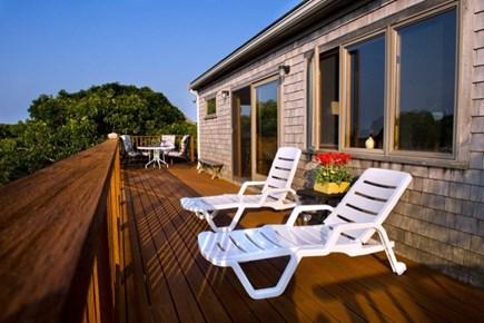 Aquinnah Martha's Vineyard vacation rental - Beautiful deck facing the water