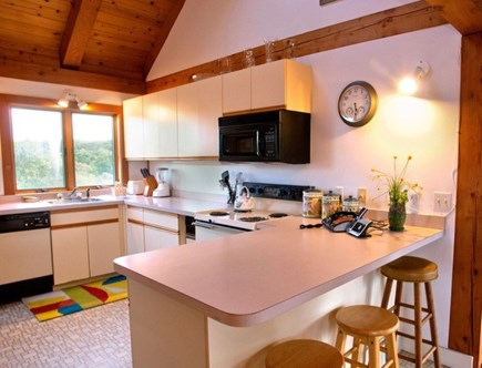 Aquinnah Martha's Vineyard vacation rental - Kitchen open to dining and living area