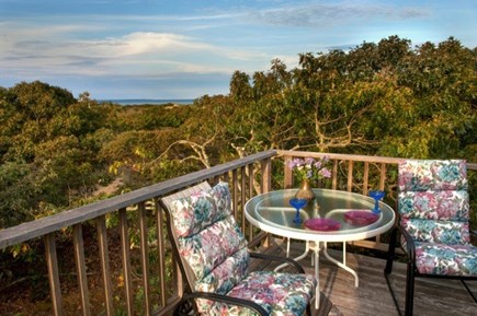 Aquinnah Martha's Vineyard vacation rental - Sitting area on deck with water view